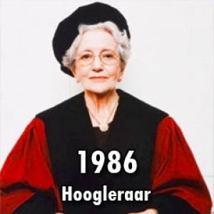 1986 – Eerste hoogleraar